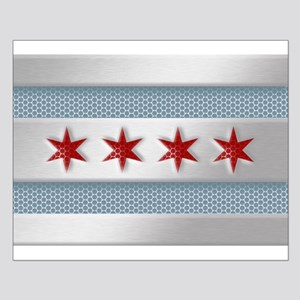 Chicago Flag Brushed Metal Posters